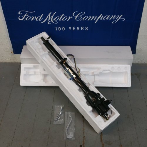 small resolution of black steering column for 1965 1966 ford galaxie 33 tilt steering keyed bar product description c