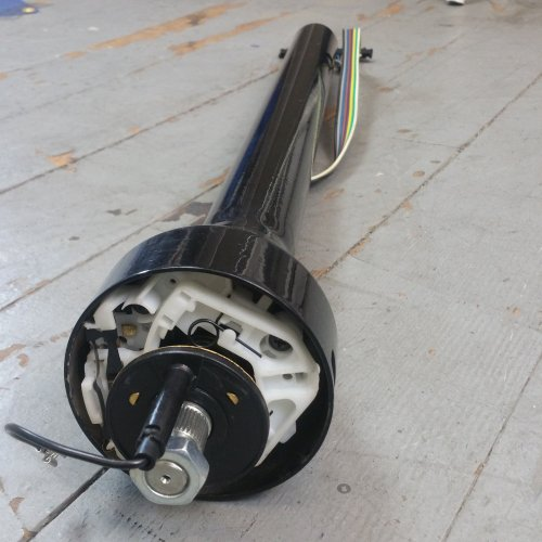 small resolution of 1958 1964 impala 28 black steering column gm floor shift gm gmc steering bar product description c