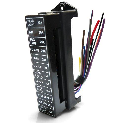 small resolution of 12 32v auto car boat 12 way circuit standard ato atc blade fuse box block holder