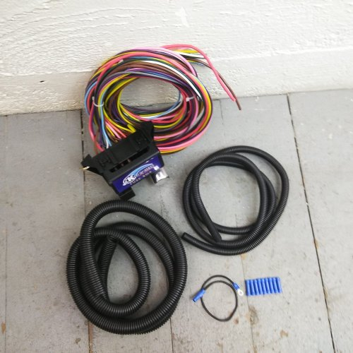 small resolution of 12v 18 circuit 12 fuse universal wiring harness kit 1951 chrysler 1957 pontiac bar product description c