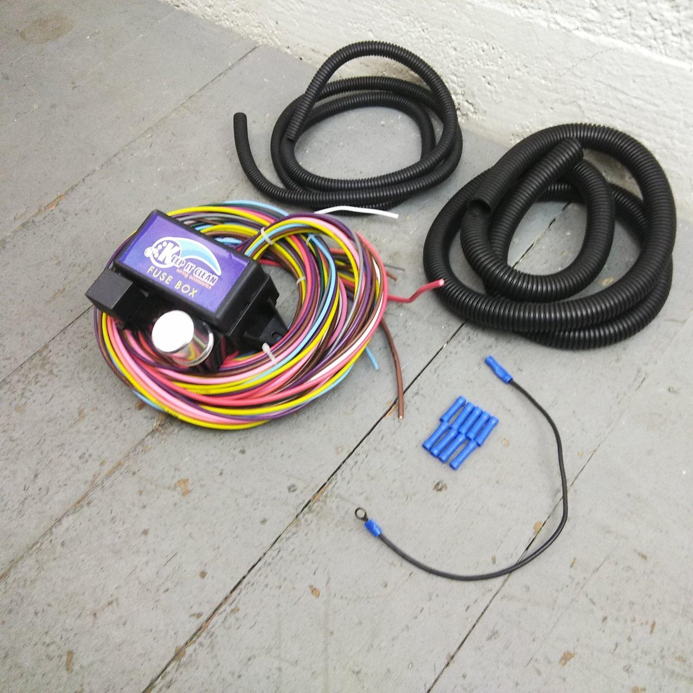 hight resolution of 12v 18 circuit 12 fuse universal wiring harness kit 1953 buick 1946 pontiac bar product description c