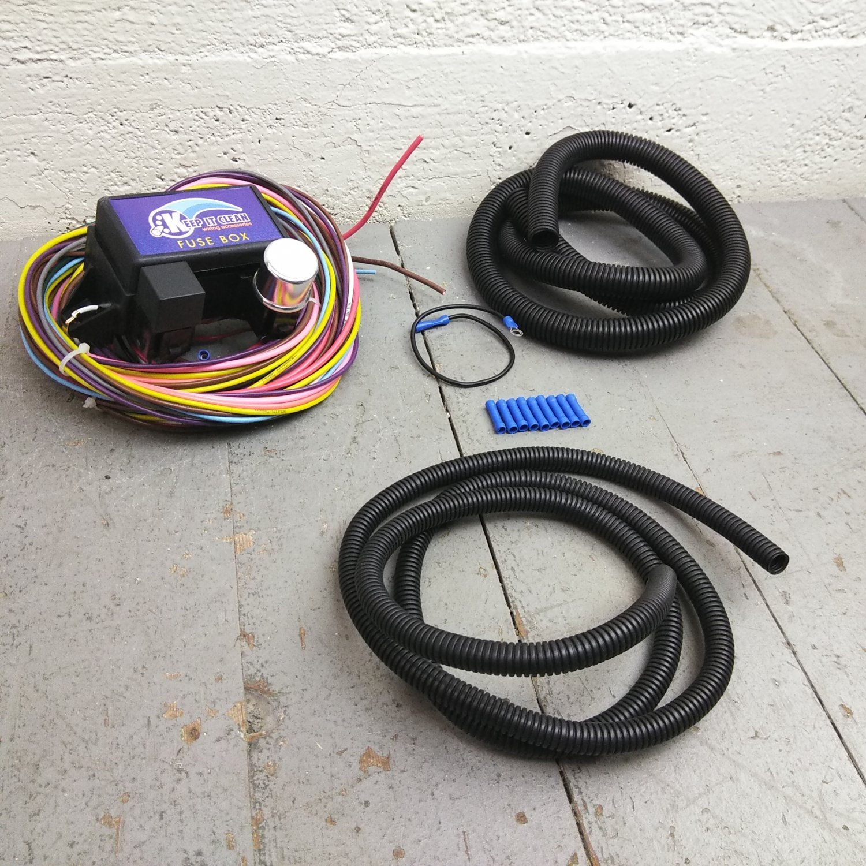 hight resolution of 12v 18 circuit 12 fuse universal wiring harness kit 1952 buick 1938 pontiac bar product description c