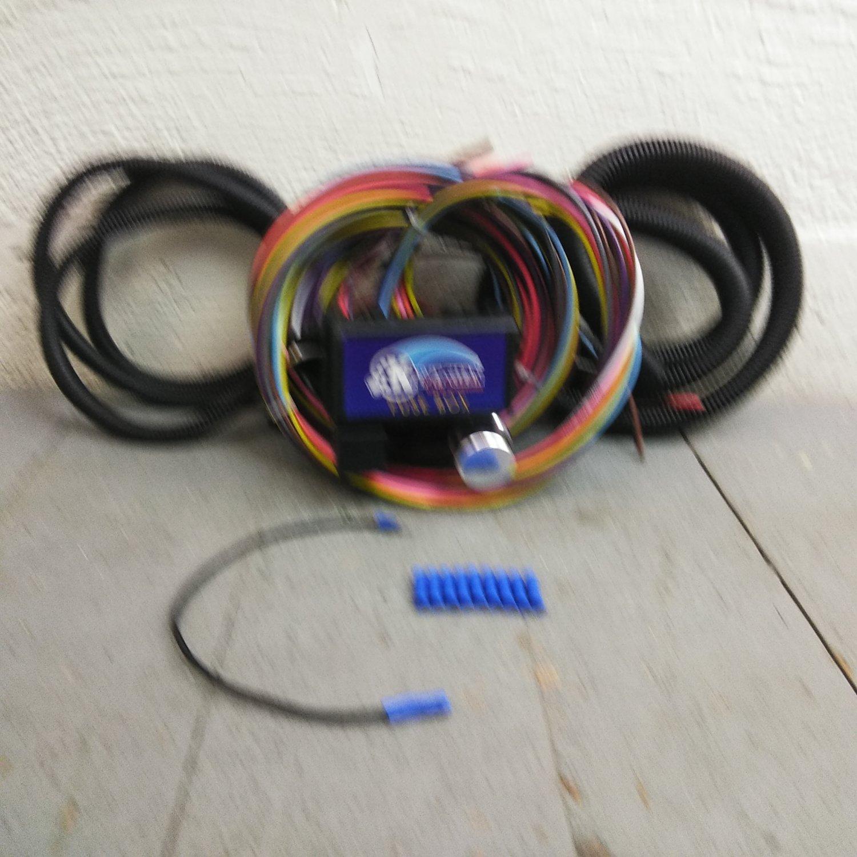 hight resolution of 12v 18 circuit 12 fuse universal wiring harness kit 1952 oldsmobile rat rod bar product description c