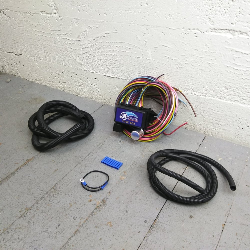 medium resolution of 1953 1964 dodge truck 8 circuit wire harness fits painless update terminal bar product description c