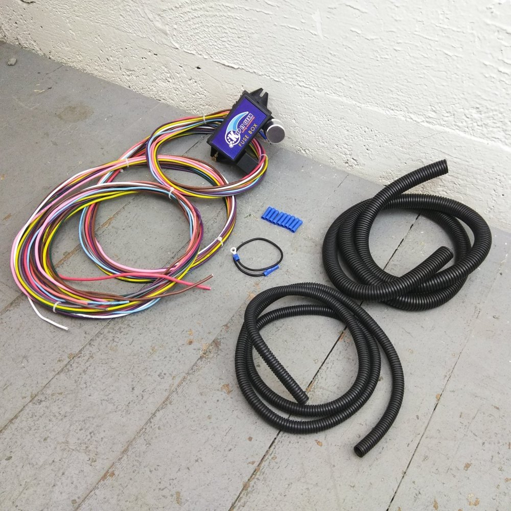 medium resolution of 12v 18 circuit 12 fuse universal wiring harness kit 1934 ford 1949 mercury bar product description c