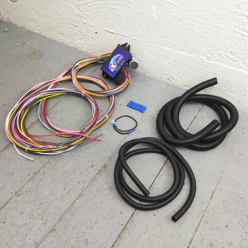 small resolution of 12v 18 circuit 12 fuse universal wiring harness kit 1934 ford 1949 mercury bar product description c