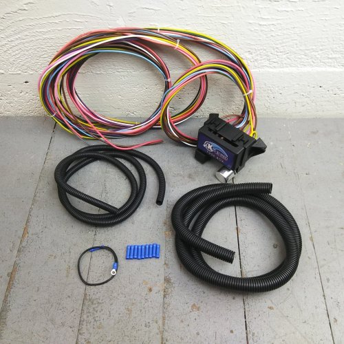 small resolution of 12v 18 circuit 12 fuse universal wiring harness kit 1936 chevrolet jeep project bar product description c