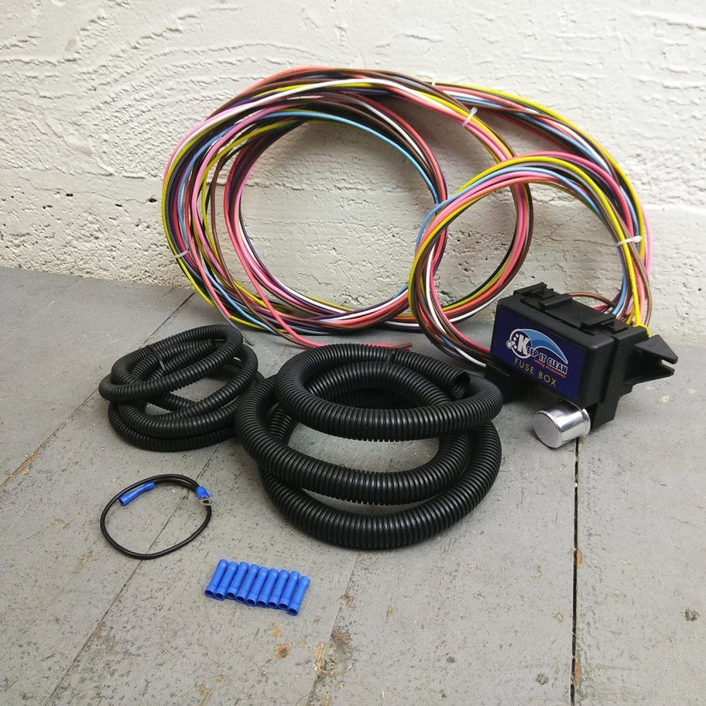 medium resolution of 1936 1950 cadillac ultra pro wire harness system 12 fuse w fuse replace bar product description c