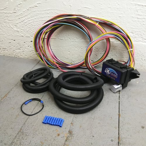 small resolution of 1936 1950 cadillac ultra pro wire harness system 12 fuse w fuse replace bar product description c