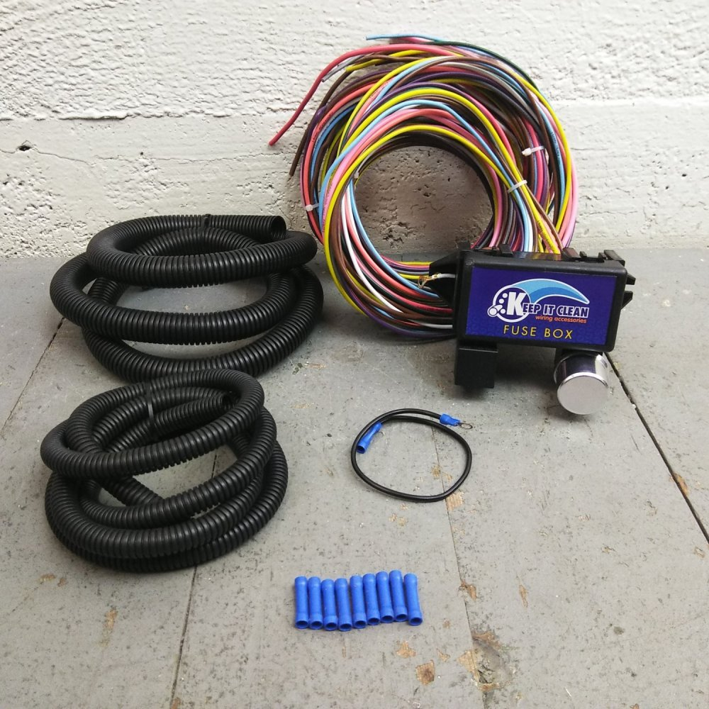 medium resolution of 1950 1988 jaguar ultra pro wire harness system 12 fuse w fuse long replace bar product description c