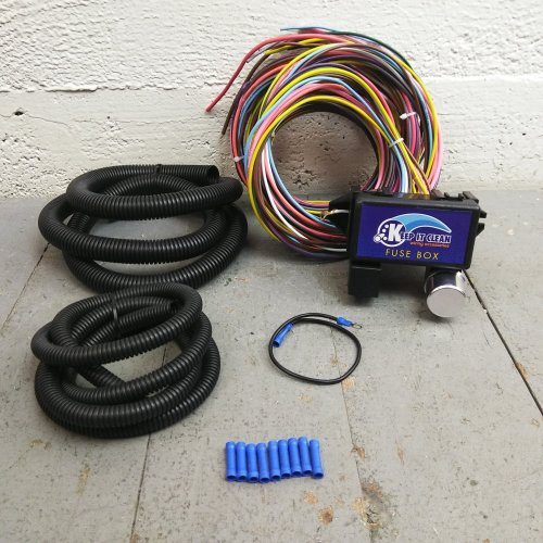 small resolution of 1950 1988 jaguar ultra pro wire harness system 12 fuse w fuse long replace bar product description c