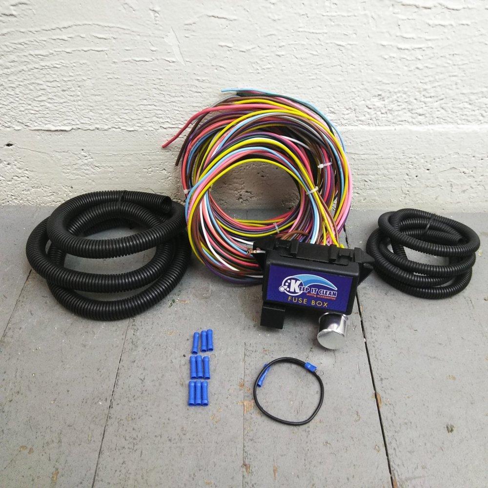 medium resolution of 1962 1974 mopar b e body wire harness fuse block upgrade kit rat rod review bar product description c