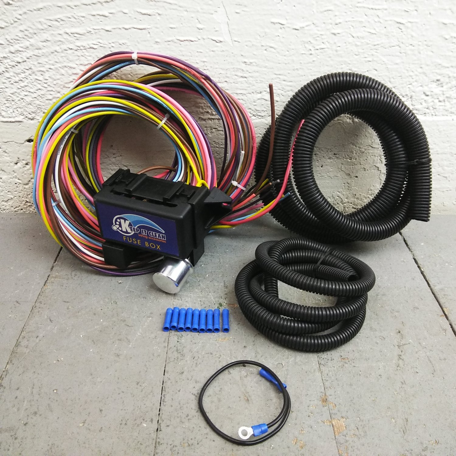 hight resolution of 1974 up jeep cj series 8 circuit wire harness fits painless circuit complete bar product description c