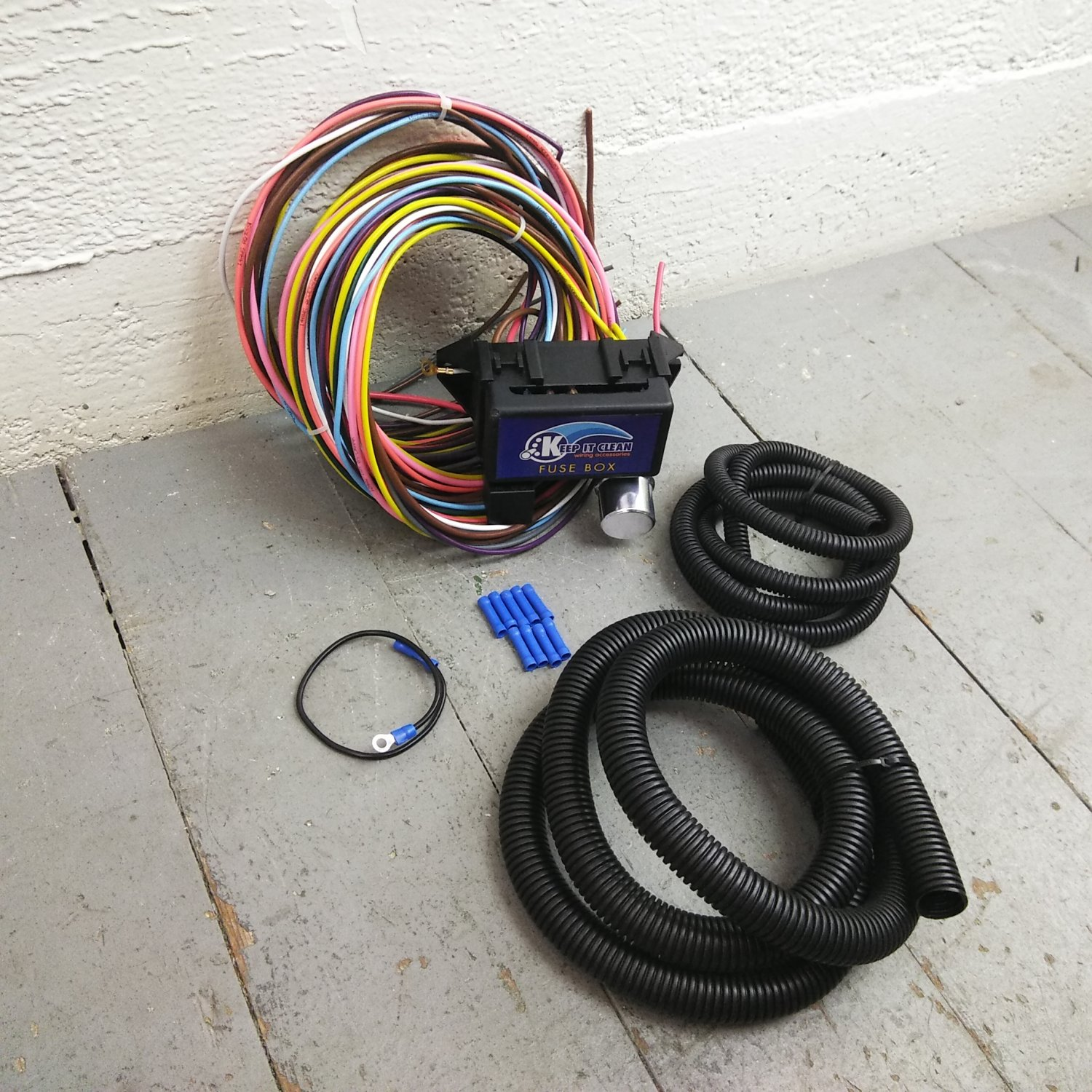 hight resolution of 1932 1948 packard 8 circuit wire harness fits painless terminal new compact