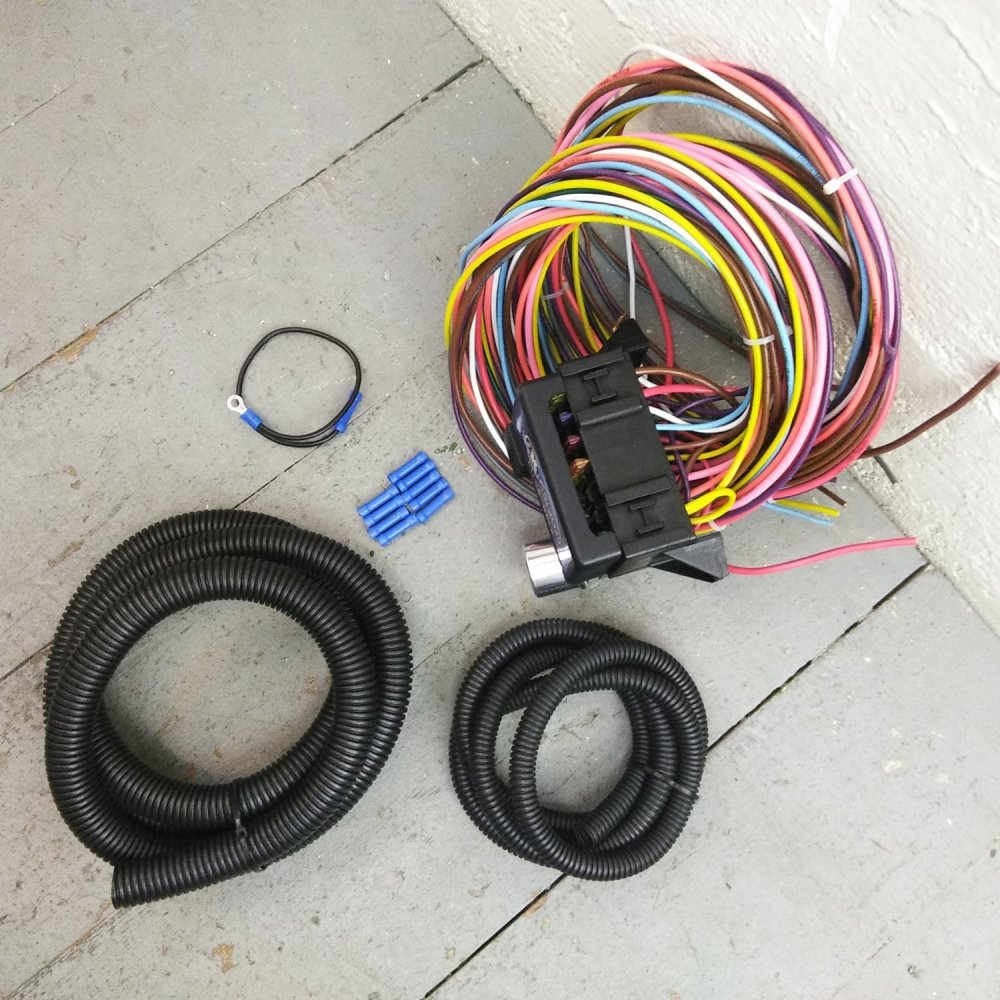 medium resolution of wiring harness kit wiring diagram12v 18 circuit 12 fuse universal wiring harness kit ford mustang