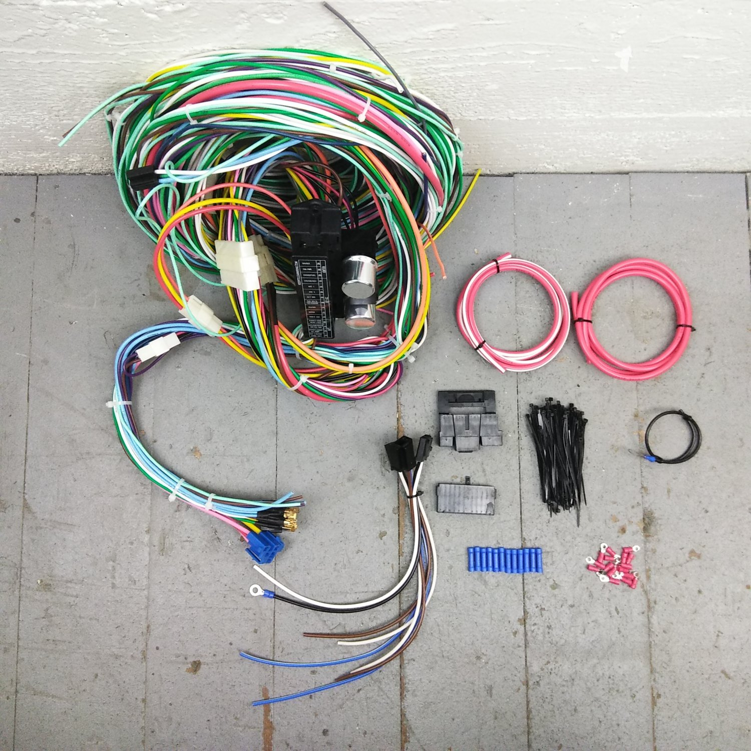 hight resolution of 1967 1968 mercury cougar wire harness upgrade kit fits painless mercury cougar pro touring on 68 cougar turn signal switch wiring