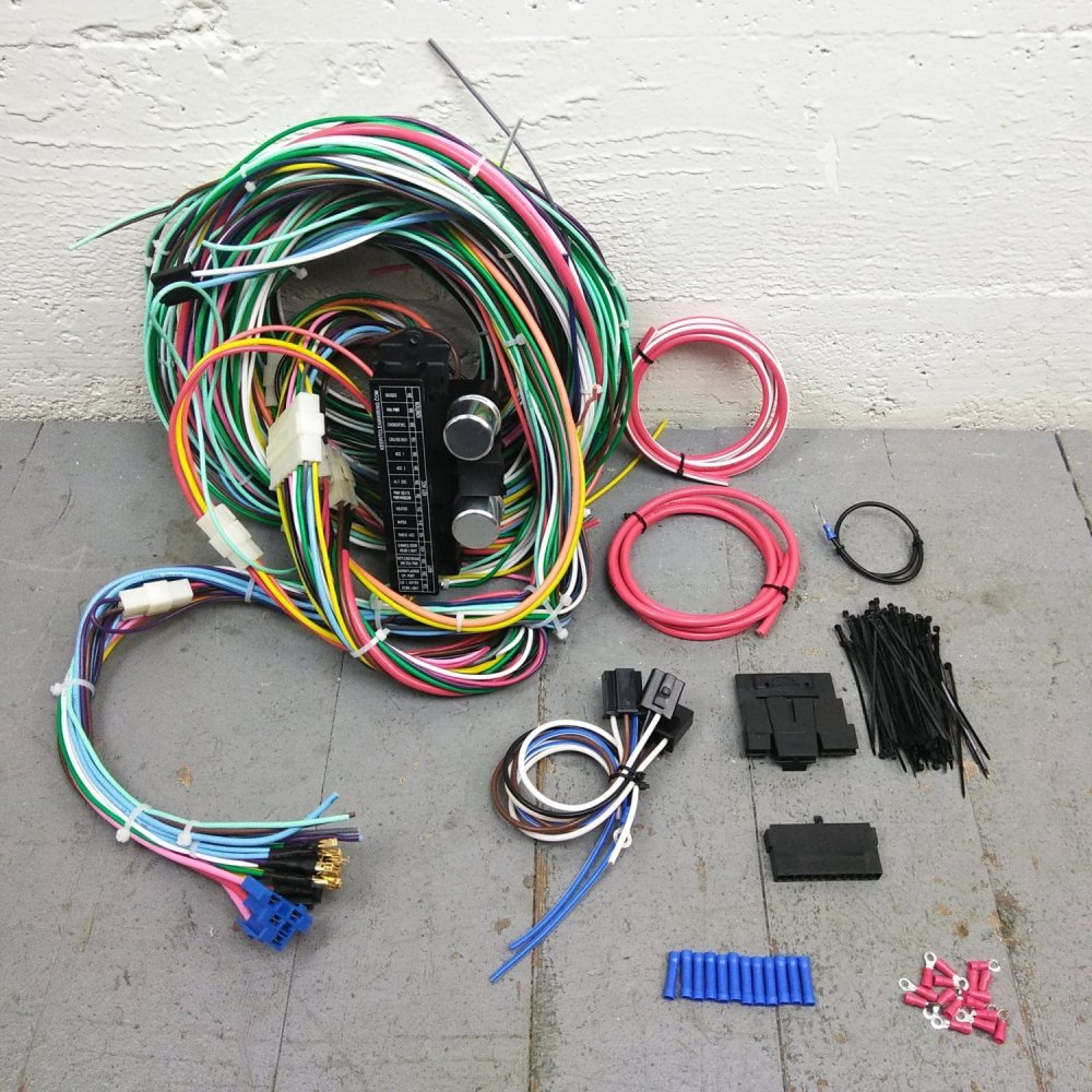 medium resolution of 1946 1992 jeep wire harness upgrade kit fits painless fuse compact new update bar product description c