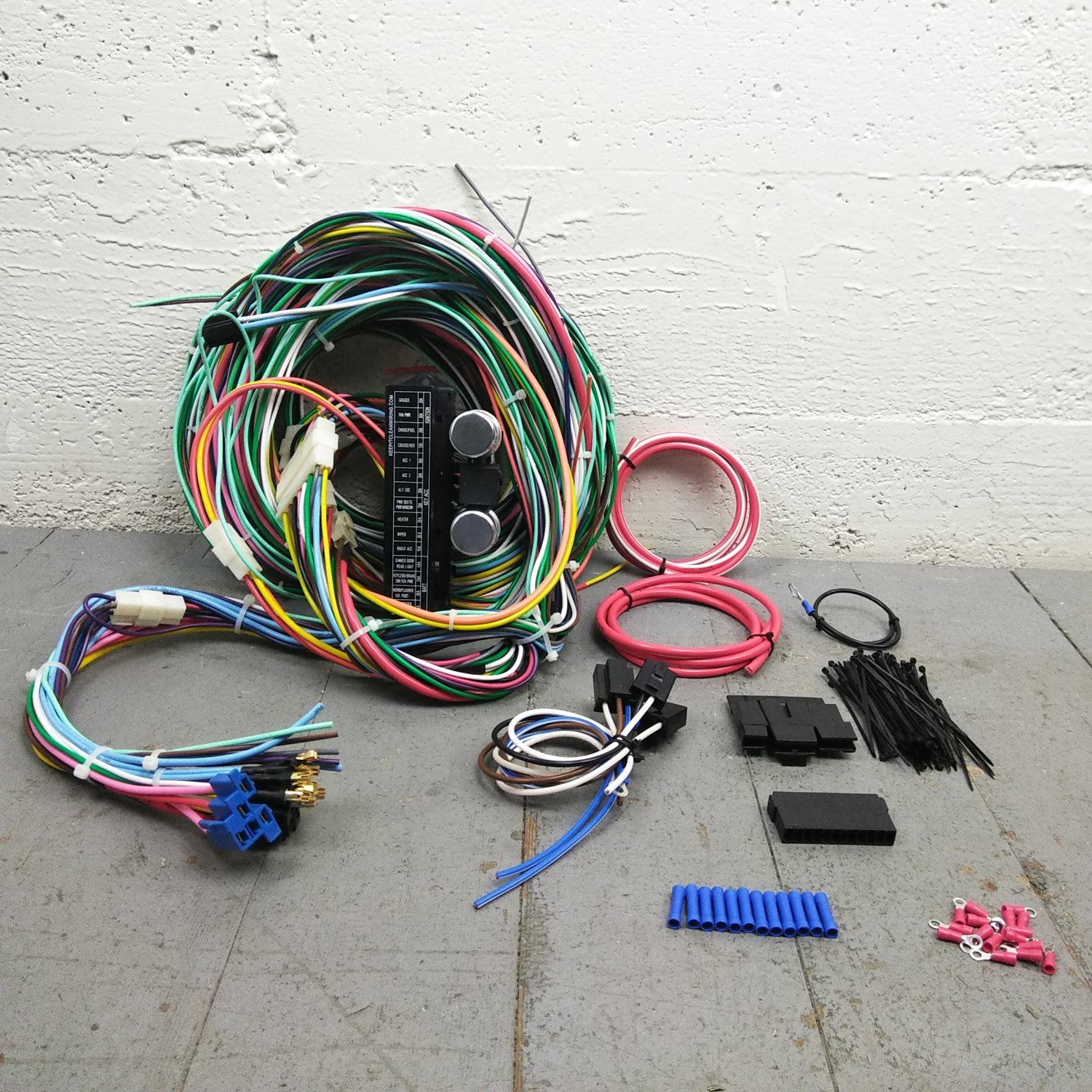 hight resolution of 1967 1969 chevrolet camaro wire harness upgrade kit fits painless terminal new bar product description c