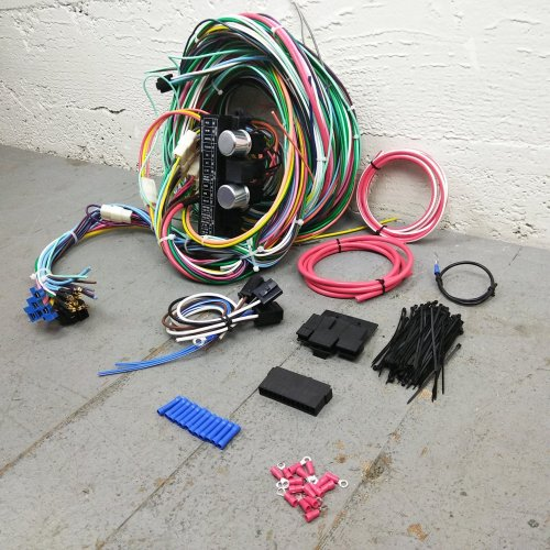 small resolution of 1967 1970 ford mustang wire harness upgrade kit fits painless fuse compact new bar product description c