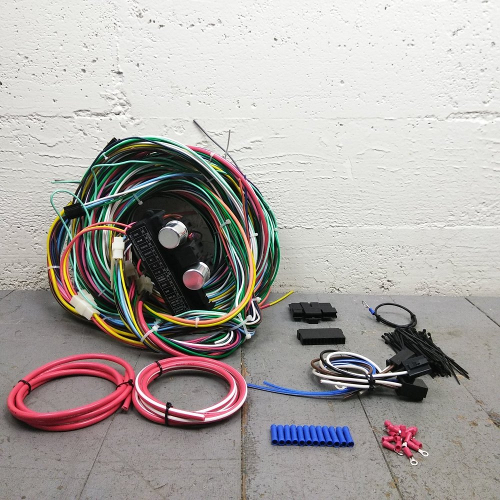 medium resolution of 1961 1966 ford truck econoline van wire harness upgrade kit fits painless bar product description c