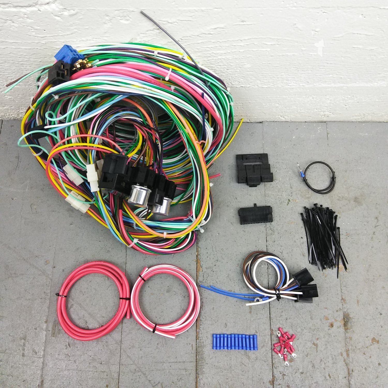 hight resolution of 1948 1952 ford truck wire harness upgrade kit fits painless update1948 1952 ford truck wire harness