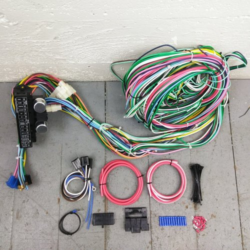 small resolution of 1948 1956 ford truck wire harness upgrade kit fits painless fuse new circuit bar product description c