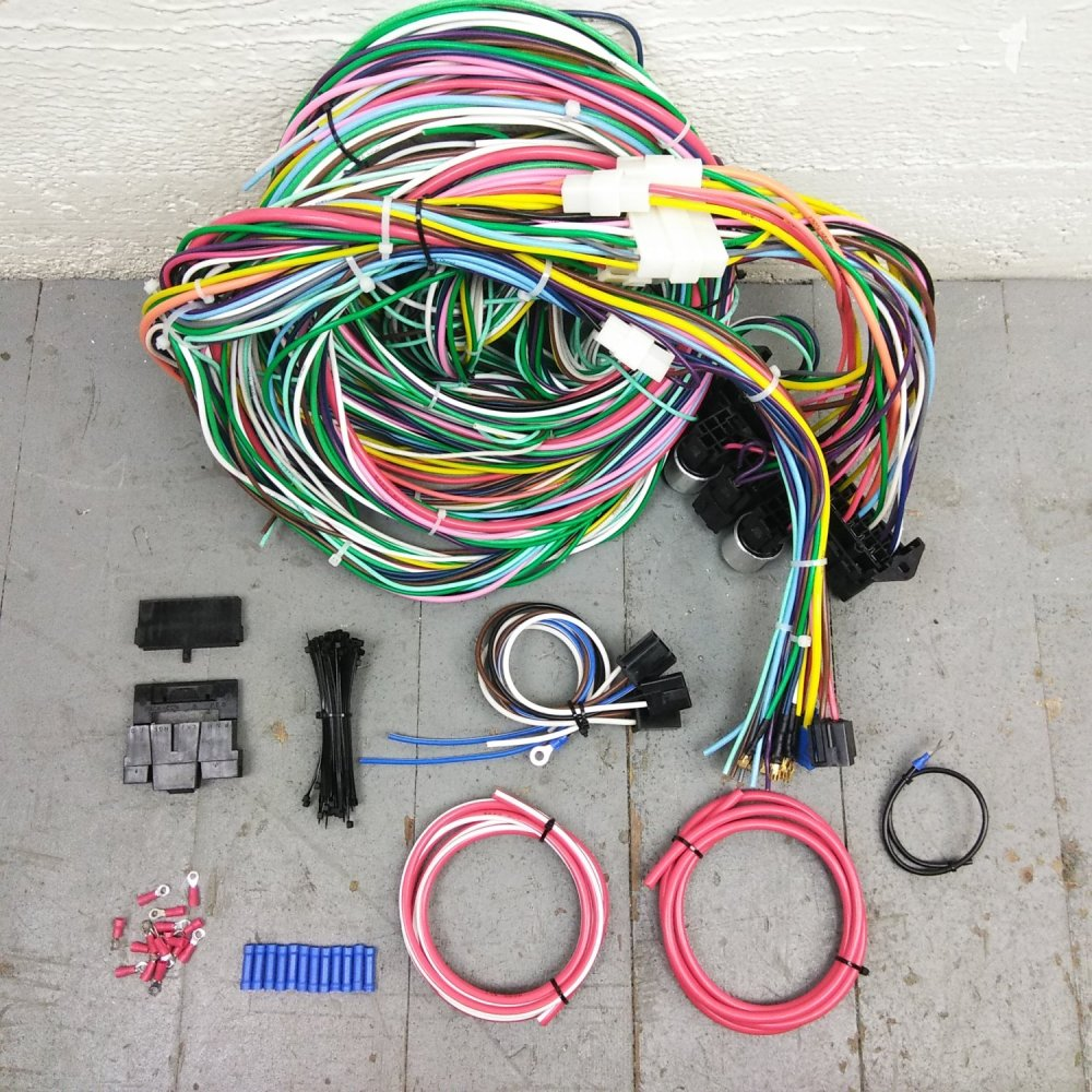 medium resolution of 1949 1962 ford car wire harness upgrade kit fits painless new terminal update bar product description c