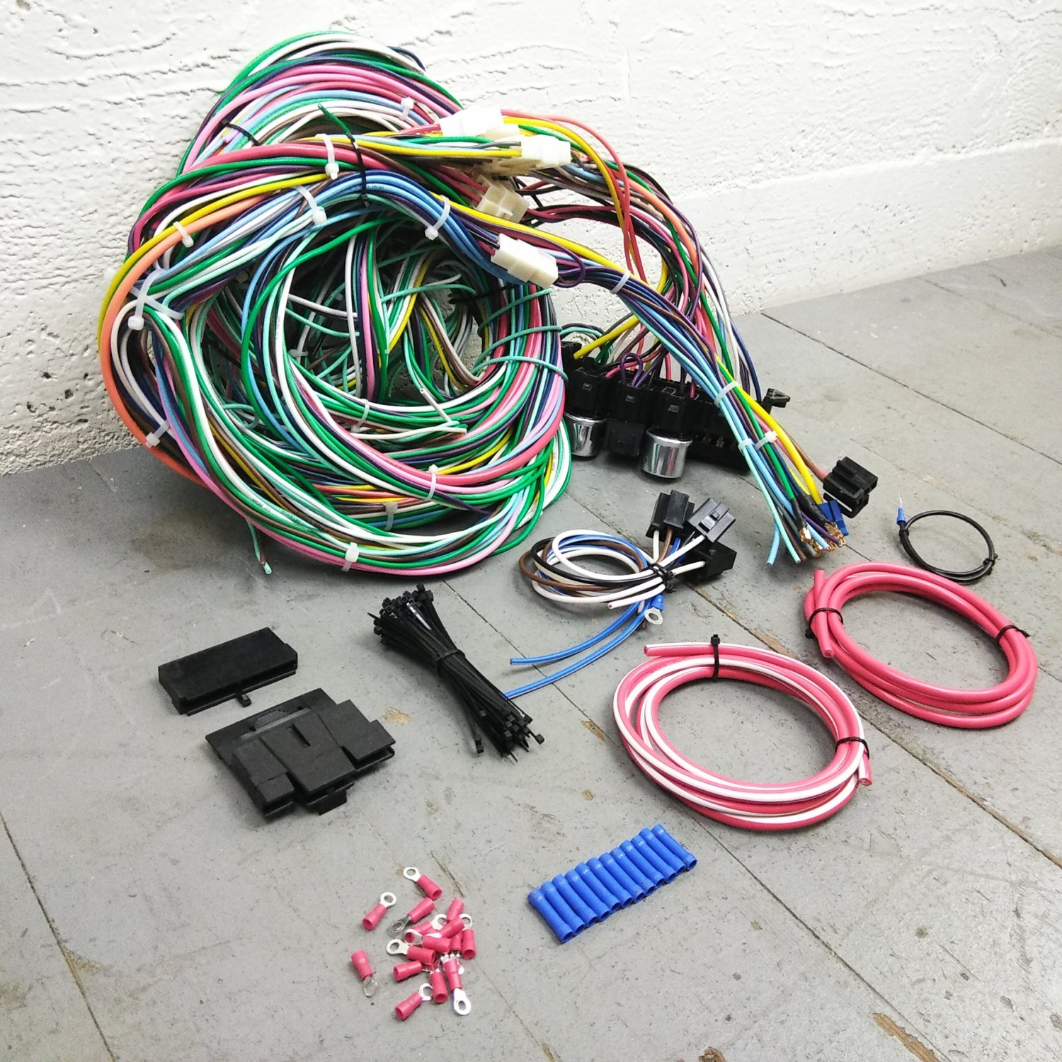 hight resolution of 1968 1974 plymouth roadrunner wire harness upgrade kit fits painless complete bar product description c