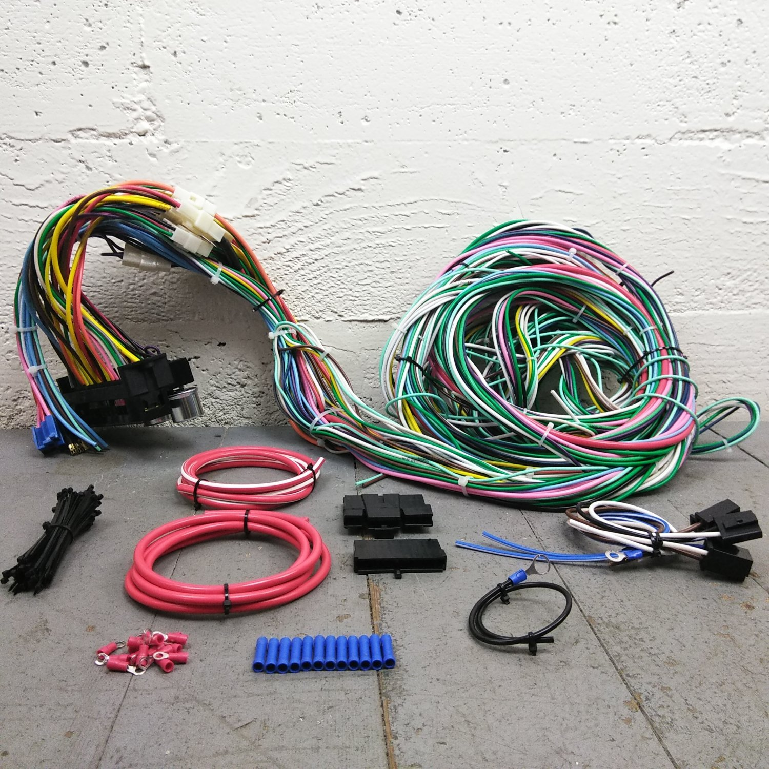 hight resolution of 1963 1974 dodge mopar wire harness upgrade kit fits painless new compact fuse bar product description c