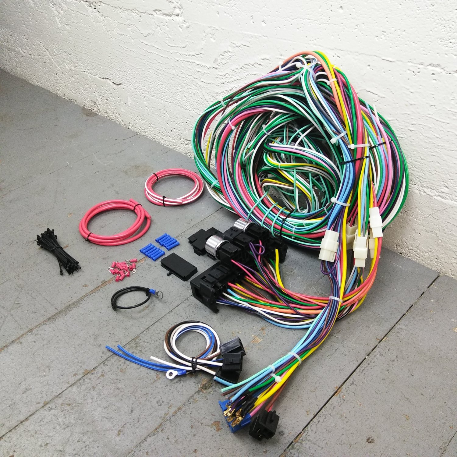 hight resolution of 1964 1967 chevrolet wire harness upgrade kit fits painless fuse 1959 chevrolet impala painless performance wiring harness photo 2