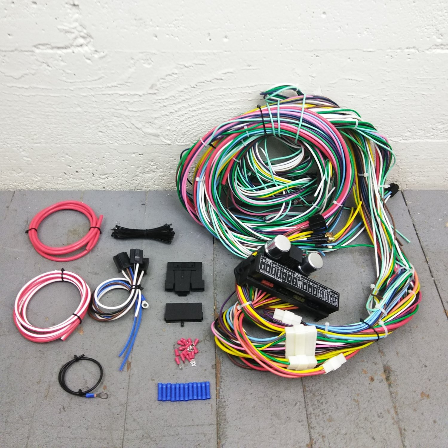 hight resolution of 1964 1967 chevy ii nova wire harness upgrade kit fits painless compact update bar product description c