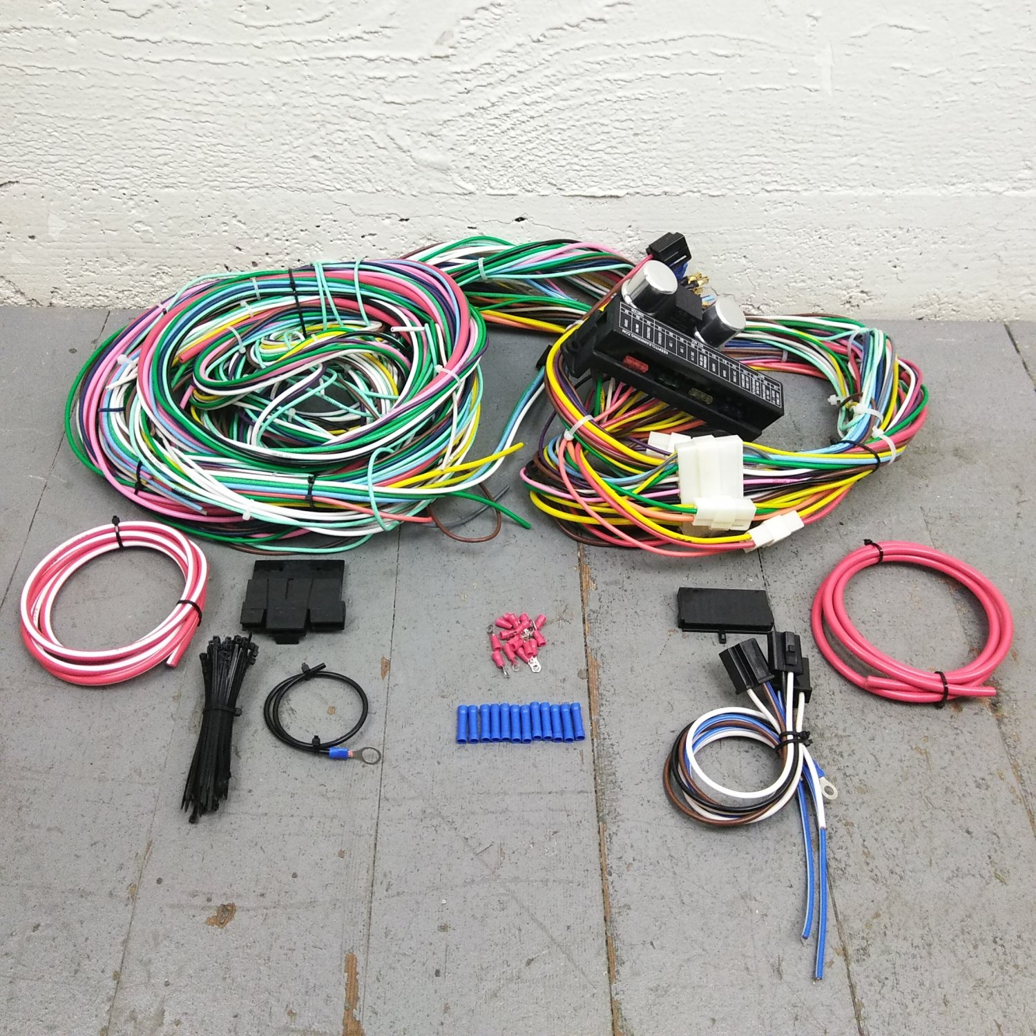 hight resolution of 1964 1970 ford mustang wire harness upgrade kit fits painless new terminal kic bar product description c