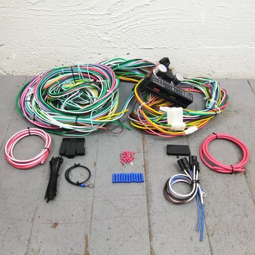small resolution of 1964 1970 ford mustang wire harness upgrade kit fits painless new terminal kic bar product description c