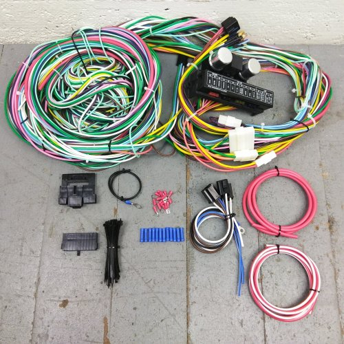 small resolution of 1955 1957 chevy bel air wire harness upgrade kit fits painless fuse block new bar product description c
