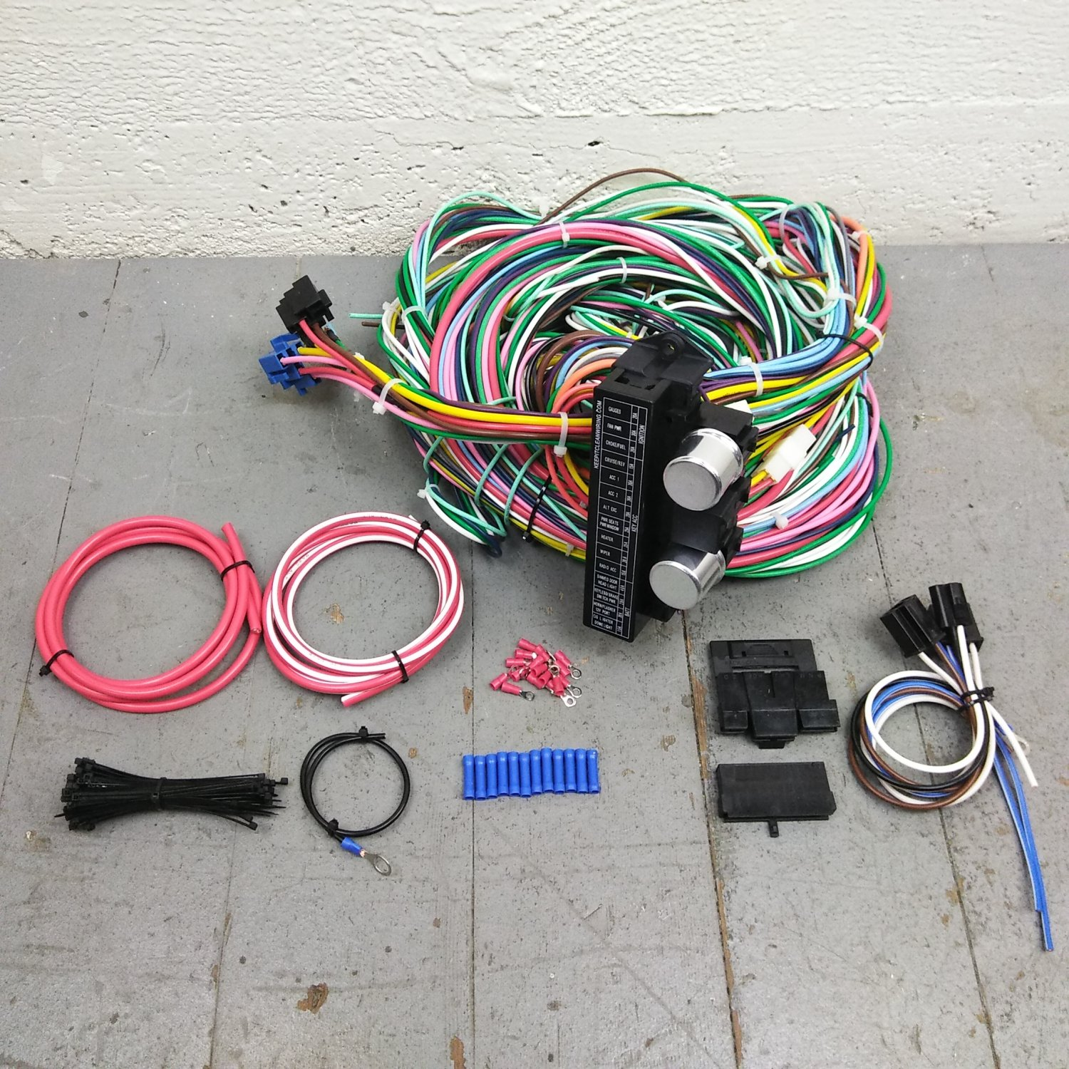 hight resolution of 1955 1959 chevy truck wire harness upgrade kit fits painless complete terminal bar product description c