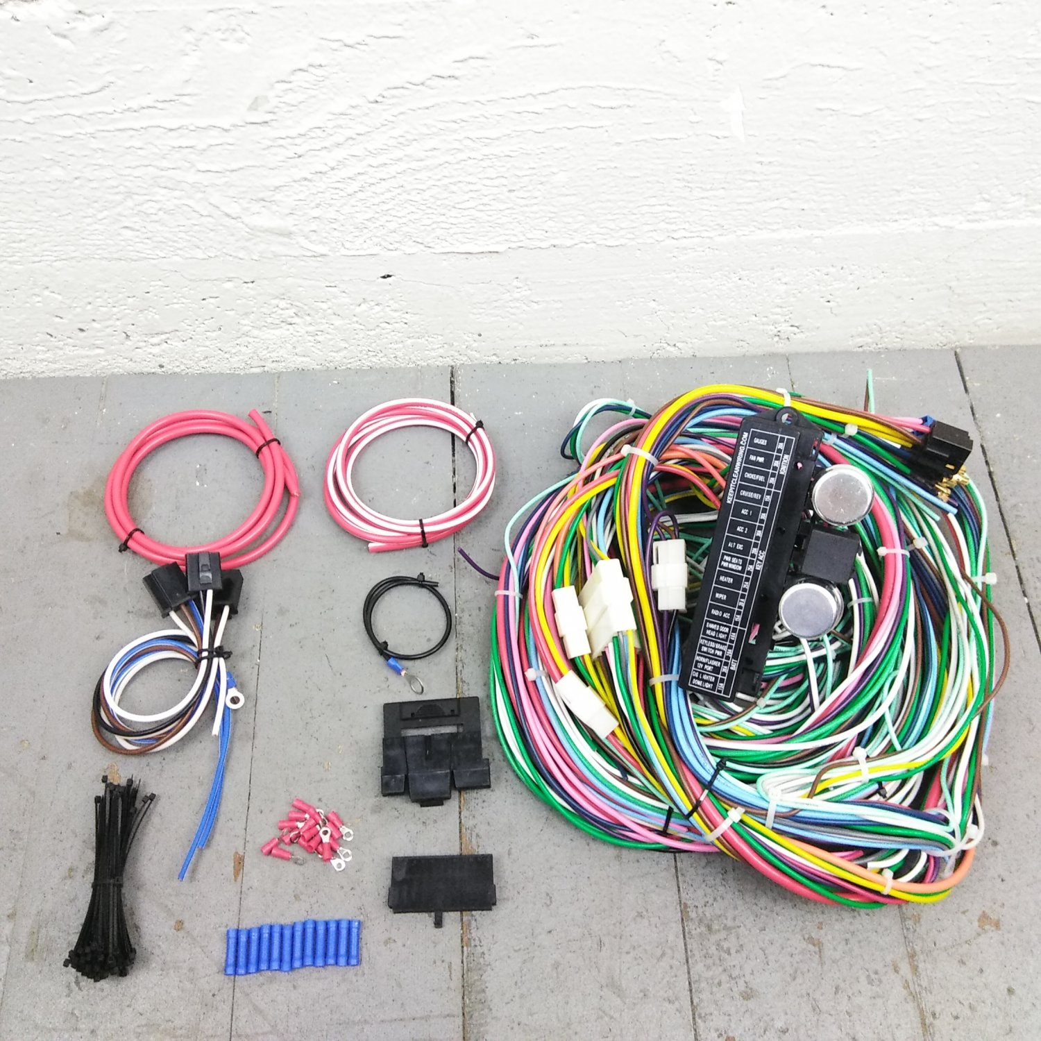 hight resolution of 1970 ford mustang wire harness upgrade kit fits painless fuse block update new bar product description c