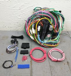1971 1986 jeep cj wire harness upgrade kit fits painless fuse block terminal bar product description c [ 1500 x 1500 Pixel ]