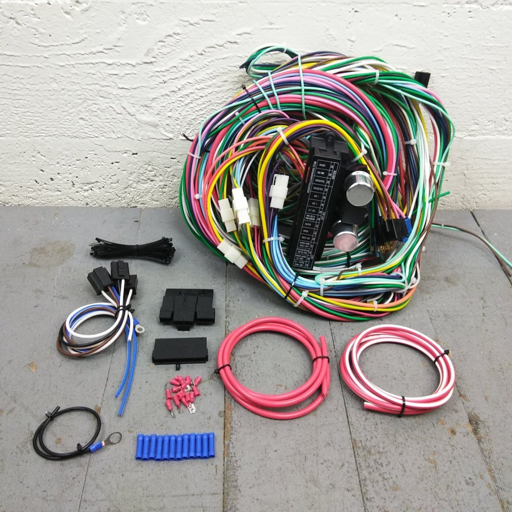 medium resolution of 1971 1986 jeep cj wire harness upgrade kit fits painless fuse block terminal bar product description c