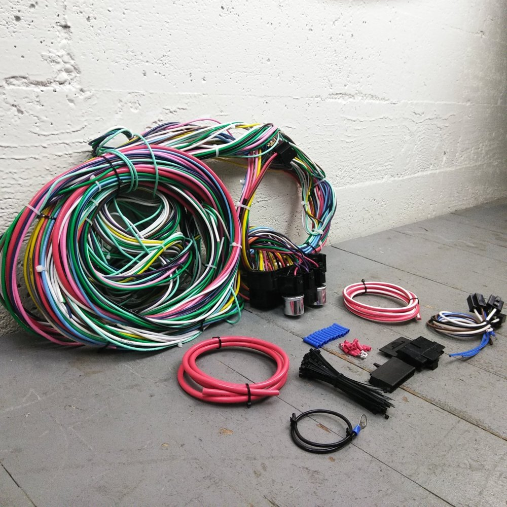 medium resolution of 1958 and earlier plymouth wire harness upgrade kit fits painless terminal new bar product description c