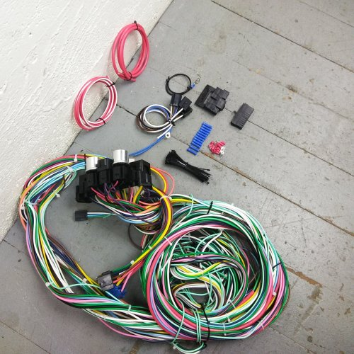 small resolution of 1941 1948 ford wire harness upgrade kit fits painless new compact fuse update bar product description c