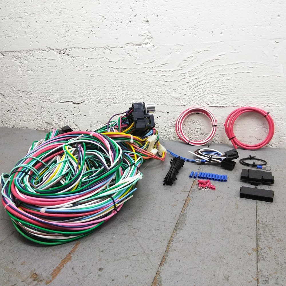 medium resolution of 1948 1952 ford f 150 series truck wire harness upgrade kit fits painless new bar product description c