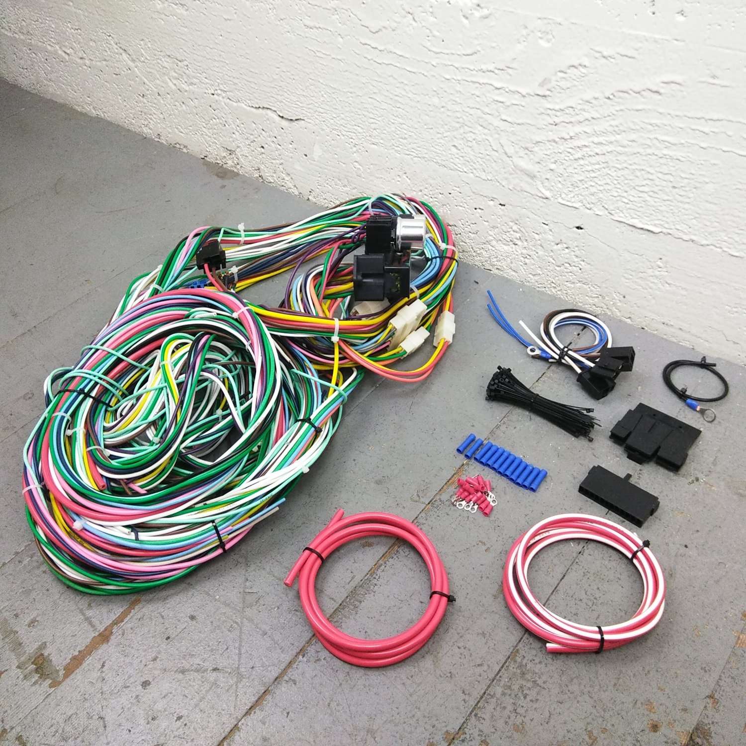 hight resolution of 1960 1965 ford falcon wire harness upgrade kit fits painless fuse rh ebay com ford wiring