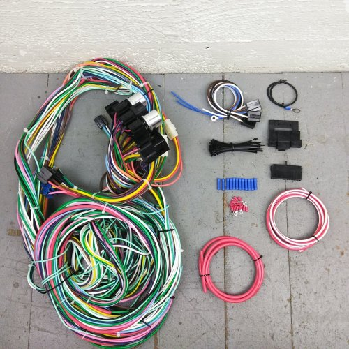 small resolution of 1960 1966 chevy or gmc truck wire harness upgrade kit fits painless circuit bar product description c