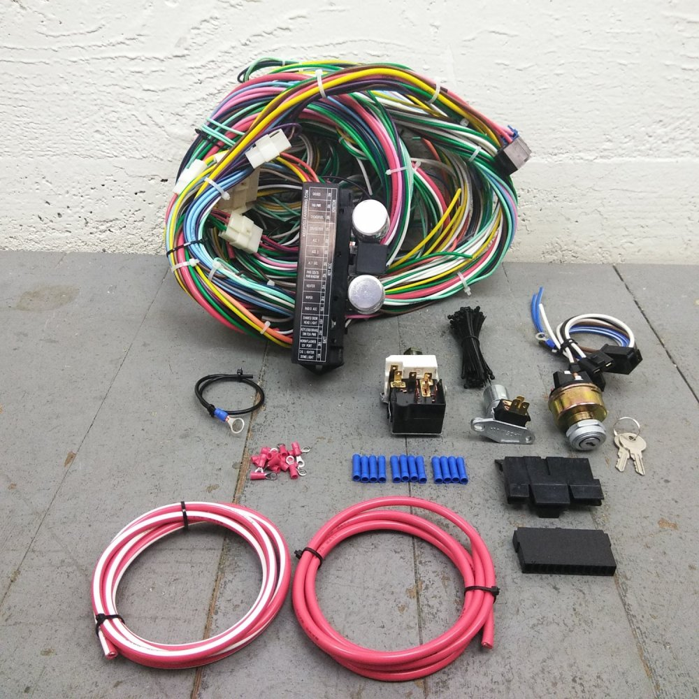 medium resolution of 1974 and up jeep cj6 cj7 main performance wire harness system 24 circuit 15 fuse bar product description c