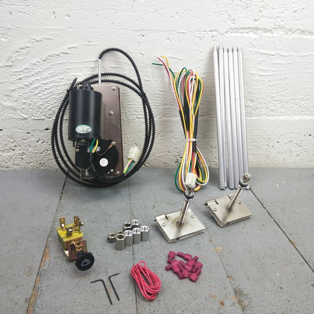 medium resolution of universal power wiper kit street rod hot rod classic truck wiring 3 speed motor bar product description c