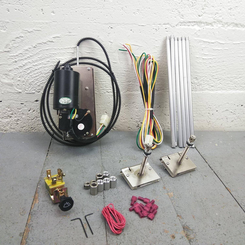 hight resolution of universal power wiper kit street rod hot rod classic truck wiring 3 speed motor bar product description c
