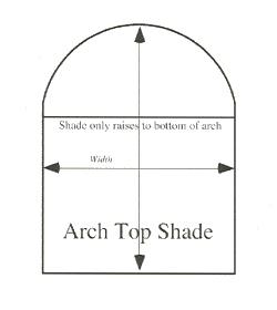B & W Manufacturing, Horizons Natural Shades, Arch Top