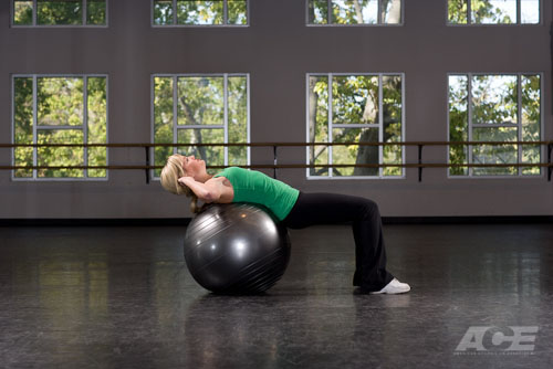 Ab Exercises  Stability Ball Situps  Crunches