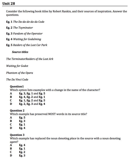 gamsat sample questions