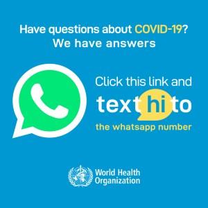 OMS-chat no WhatsApp-Covida19-ACEGIS